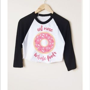 Muscles and Donuts Crop Top